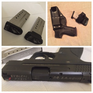 """This is my travel setup, for when I have to fly. I disassemble the Shield and put it into a fitted STORM HARDIGG case that has the top of the slide facing out. Any curious baggage handlers that feel like stealing it can plainly read, """"I SEE THEM."""" If they chose to steal it, hopefully it'll make the police's job easier in recovering it. Also pictured in the shot is the EXCELLENT Safety Solutions Academy, PLAN B, aluminum magazine floorplates. They are being rebranded now as the, """"MAGFIX,"""" and is available at magfix.co . Tell them that the Doctor sent you!"""